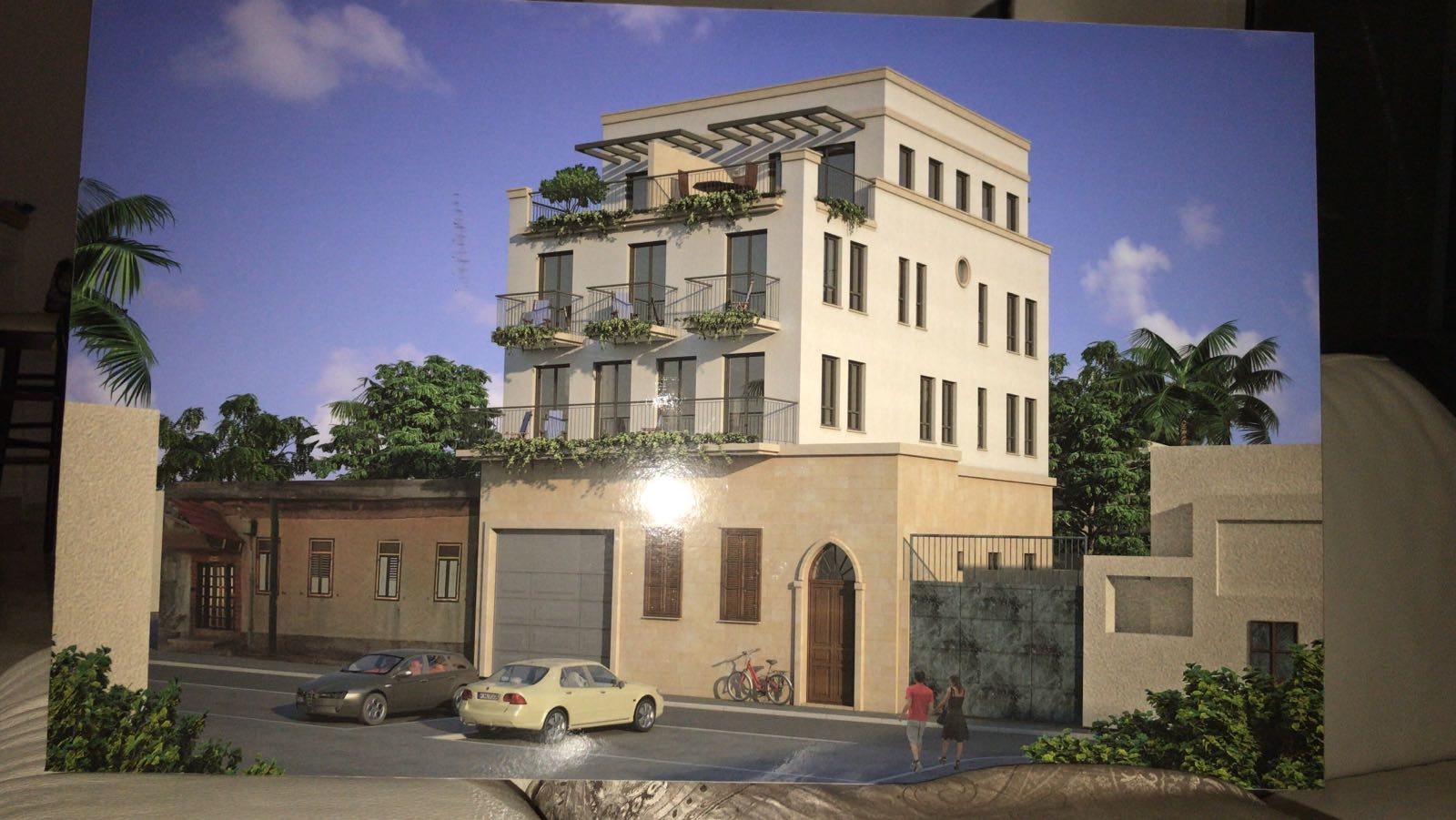 דירת גן בבניין חדש בעג'מי