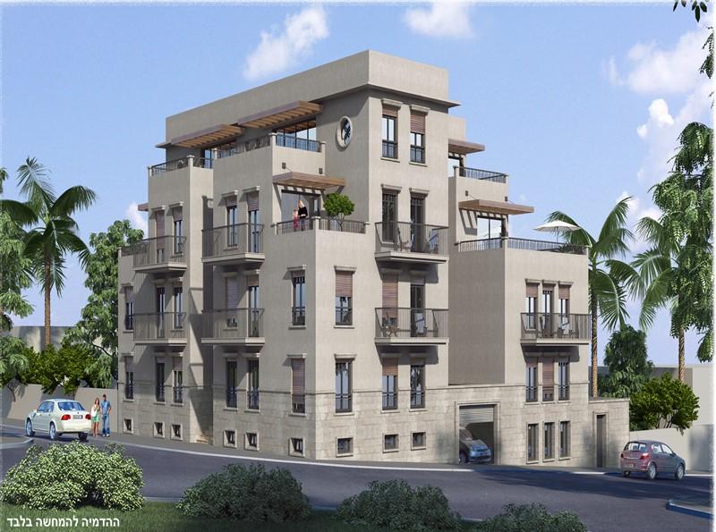 בניין חדש בעג'מי נותרו 3 דירות